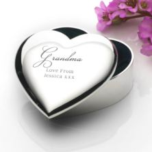Engraved Grandma Heart Trinket Box
