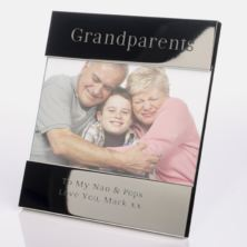 Engraved Grandparents Photo Frame
