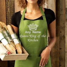 Personalised Embroidered King/Queen of the Kitchen Apron
