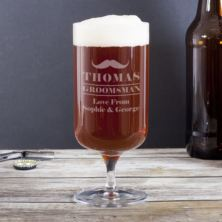 Personalised Groomsman Footed Beer Glass