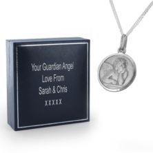 Cherub Necklace in Personalised Gift Box