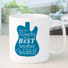 Personalised Simply The Best Guitar Design Mug