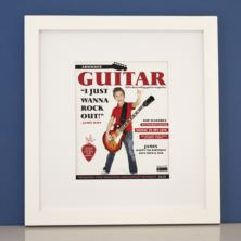 Personalised Guitar Magazine Framed Print