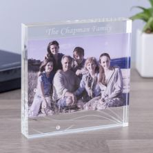 Personalised Dartington Glitz Glass Block Photo Frame