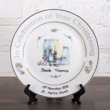 Personalised Heron China Christening Plate
