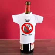 Hands off Personalised Wine Bottle T-Shirt
