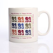 Happy 21st Birthday Personalised Mug