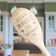 Happy Mother's Day Personalised Wooden Spoon