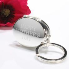 Personalised Happy Mother's Day Silver Oval Photo Locket Keyring