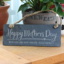 Personalised Happy Mother's Day Hanging Slate Plaque