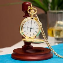 Personalised Gold Plated Pocket Watch With Stand
