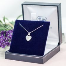 Heart Shaped Guardian Angel Pendant in Personalised Box