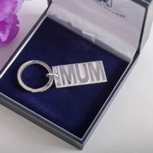 Personalised Sterling Silver Mum Keyring