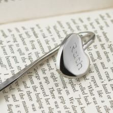 Engraved Heart Bookmark