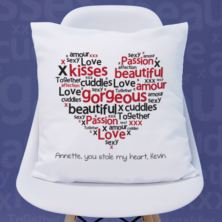 Heart of Words Personalised Cushion
