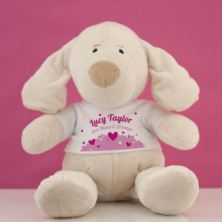 Personalised My First Puppy Soft Toy - Baby Girl
