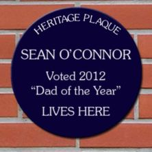 Fathers Day Personalised Spoof Blue Heritage Plaque