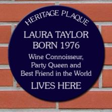 Personalised Spoof Blue Heritage Plaque