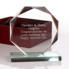 Personalised Glass Octagon Award