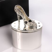 Engraved High Heeled Shoe Trinket Box