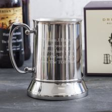 Personalised Emporium Collection Stainless Steel Tankard