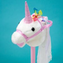 White Unicorn Hobby Horse