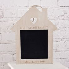 Personalised House Shaped Chalkboard
