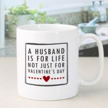 Personalised Husband For Life Valentine's Day Mug