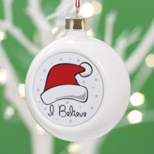 Personalised I Believe in Santa Christmas Bauble