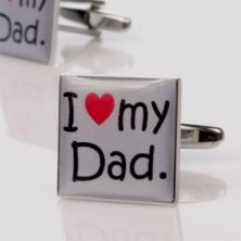 I Love My Dad Cufflinks - Personalised