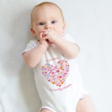 Personalised I Love My Mummy Baby Grow