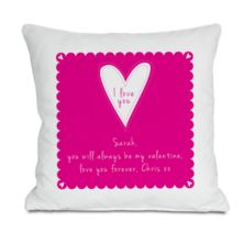 I Love You Personalised Cushion