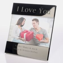 I Love You Shiny Silver Photo Frame
