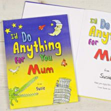 I Would Do Anything for You Mum Hardback Book - Personalised