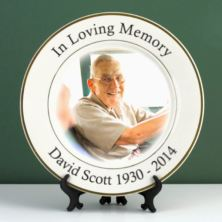 Personalised In Loving Memory Photo Plate