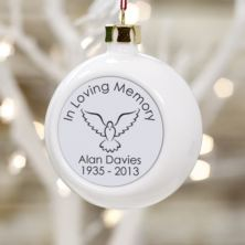 In Loving Memory Personalised Christmas Bauble