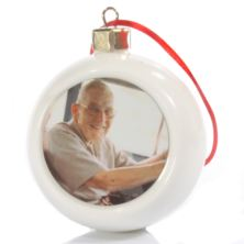 Personalised In Loving Memory Photo Bauble