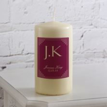 Personalised Initials Candle