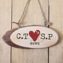 Personalised Tree Carving Wooden Hanging Plaque