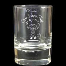Pageboy's Etched Character Juice Glass