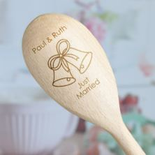 Just Married Personalised Wooden Spoon