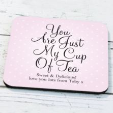 Personalised Just My Cup Of Tea Coaster