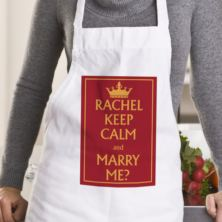 Personalised Keep Calm Valentine's Day Apron