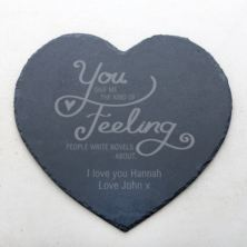 Personalised Kind Of Feeling Slate Heart Placemat