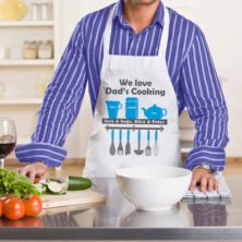 We Love Dad's Cooking Personalised Apron