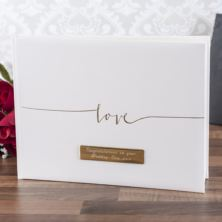 Personalised Contemporary Love Design Guest Book