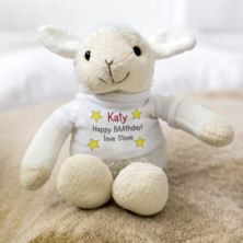 Personalised Embroidered Cubbies Lamb Soft Toy