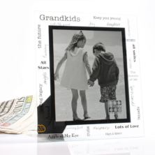 Moments Large Grandkids Glass Frame