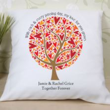 Leaves of Love Personalised Cushion