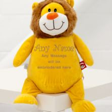 Personalised Embroidered Cubbies Sundrop Lion Soft Toy